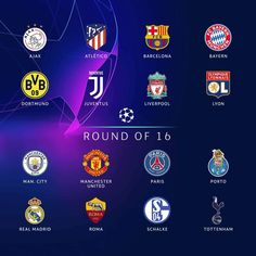 These are the teams which have qualified for the Round of 16 in the Champions league. However finishing second means we could face Real… Manchester United City, Fc Porto, Match Highlights, Paris City, Uefa Champions League, Football, Club, Liverpool, The Unit