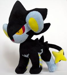 Pokemon OOAK Plush - Pokemon Luxray Lion Plushie Art Doll 16 Stuffed Animal. $350,00, via Etsy.