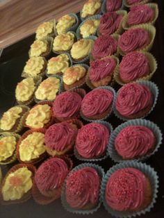 Burgunder mini Cupcakes
