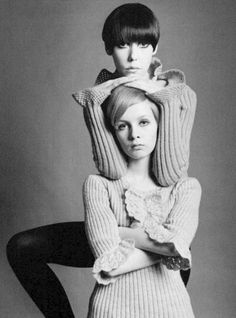 """Those pictures are the second shoot Twiggy ever did. And the photographer asked me to help her. I'm trying to show her about light and I decided oh, I'll be Madonna and she'll be my Baby Jesus."" - Peggy Moffitt"