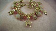 GOLDEN RETRIEVER -  Charm Bracelet-  Free Shipping - Handmade by Artisan - Last One by HOBBYHORSELADY on Etsy