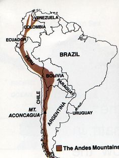 Physical map of South America very detailed, showing The Amazon ...