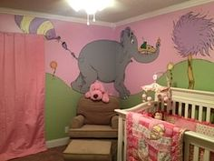 My husband and I wanted to do something different for our baby girl's nursery. We want our child to be her own person, not a follower, which is why the