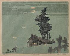 ETHLEEN PALMER (1906-1958) The Homestead 1937 linocut 27/50