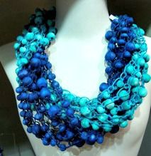 #crochet necklaces , inspired by contemporary African bead work, texture, fashion global trends, and joie de vivre.