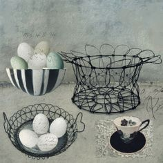 The Vintage Egg Basket