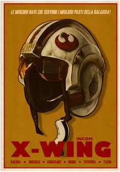 X-Wing poster.