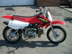 Red 2003 Honda XR70R