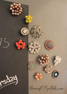 Repurpose costume jewelry into magnets