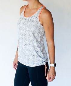 Loving this Neon Coral Cool It Off Vintage Bungee Tank - Plus Too on #zulily! #zulilyfinds