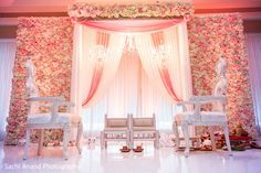 GORGEOUS, and then can serve as backdrop for sweetheart table at reception Marriage Hall Decoration, Engagement Stage Decoration, Wedding Tent Decorations, Desi Wedding Decor, Wedding Stage Design, Luxury Wedding Decor, Wedding Reception Backdrop, Wedding Mandap, Wedding Wall