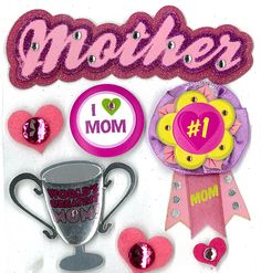 EK Success - Jolee's Boutique - 3 Dimensional Stickers with Epoxy Foil Gem and Glitter Accents - Mother at Scrapbook.com $4.39