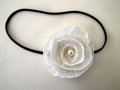 Victorian Lace and Pearl Headband Tutorial