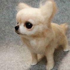 Cute Needle felting wool animal chihuahua dog pets cute (Via @little_angle__dog)