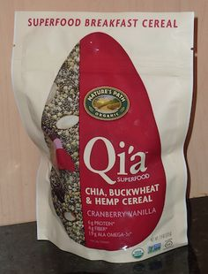 Looking for a great superfood cereal?  If so, check out Qi'a Superfood Cereal by Nature's Path.  I think it is an excellent product. http://livingmaxwell.com/qia-superfood-cereal-natures-path