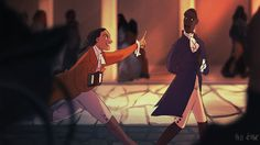 """However, artist Pati Cmak has taken the Tumblr fan art game to a whole new level by imagining what Hamilton would look like as a Disney animated movie. 