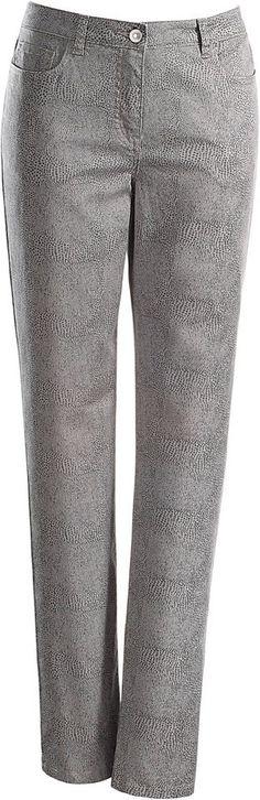Ambria Hose in 5-Pocket-Form ab 39,99€. Hose in modern inszeniertem Reptil-Dessin, Baumwolle, Elasthan, Mit Knopf- und Reißverschluss bei OTTO