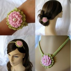 Great accessory!!! one gflower different applications.  I thin k the best result would be  working it using nice cotton , too!