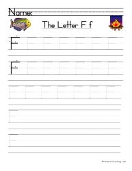 Letter F Handwriting Practice - Have Fun Teaching