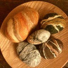 Perfumador ecológico con piedras de jabón y fieltro artesanal