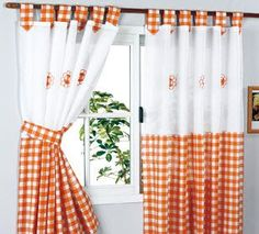 top tips on how to choose the best kitchen curtains 2019 and blinds for your kitchen, modern curtain designs for kitchen 2019 and what curtain colors are suitable for your kitchen, unique kitchen curtains style Cute Curtains, Elegant Curtains, Crochet Curtains, Modern Curtains, Window Drapes, Colorful Curtains, Curtains With Blinds, Window Coverings, Valance