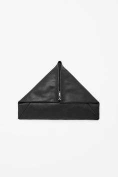 Triangle leather clutch