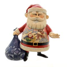 Jim Shore Santa W/ Sleigh And Rudolph Christmas Figurine Height: 7 Inches Material: Polyresin Type: Christmas Figurine Brand: Jim Shore Item Number: Jim Shore 4047942 Catalog ID: 25385 New With Box. R