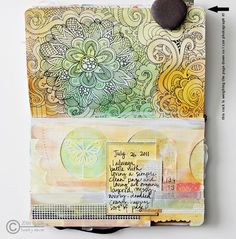 OPEN BOOK: Art Journal Pages: JO_16