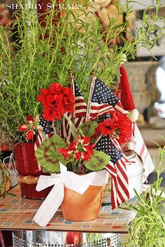 Centerpiece for Memorial Day, Flag Day, or July 4th