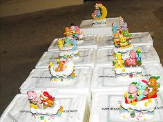 One of my fave christmas decorations. Care-A-Lot Care Bears Christmas Train Figurine Collection