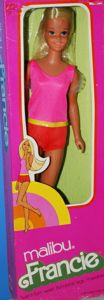 Malibu Francie NRFB - pink box.  She was my favorite out of all of my barbies!  I still have her!