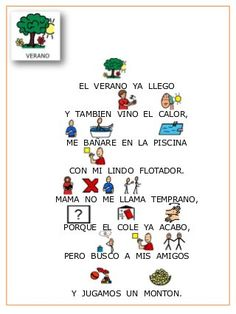 Poesia   las estaciones del año con pictogramas. Elementary Spanish Classroom, 2nd Grade Class, Spanish Greetings, Spanish Songs, Shared Reading, Classroom Projects, Baby Learning, Reggio Emilia, Teaching Spanish