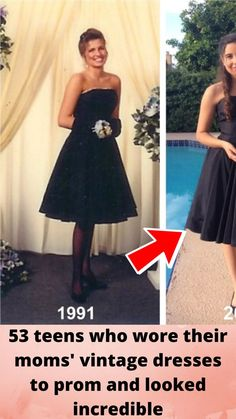 53 #teens who wore their moms' #vintage dresses to prom and #looked incredible