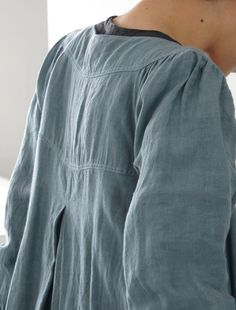 Both gathers and a box-pleat, unusual : linen from Envelope