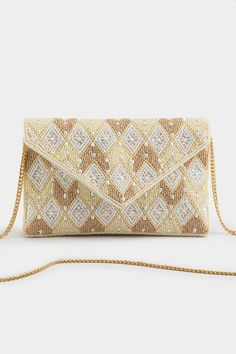 Teresa Geo Beaded Clutch Beaded Clutch, New Pins, Geo, Jewelry Accessories, Handbags, My Style, Pattern, Gifts, Clutches