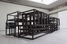 Sean Scully: China Piled Up Sean Scully, Divider, Frames, Stairs, China, Room, Furniture, Design, Home Decor