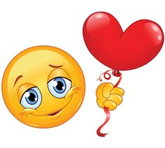 Heart balloon smiley