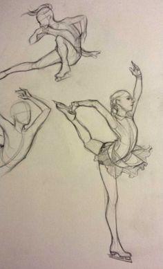 figure skater sketch (Yulia Lipnitskaya)