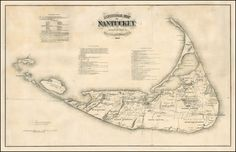 Historical Map of Nantucket. Surveyed and Drawn by The Rev. F.C. Ewer D.D. 1869