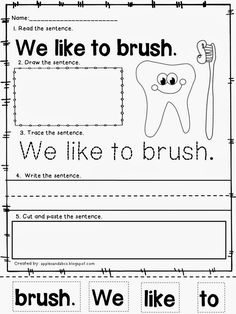 Castle Rock, Dental Health Month, Oral Health, Kids Health, Health Care, Kindergarten Science, Kindergarten Worksheets, Kindergarten Apples, Kindergarten Classroom