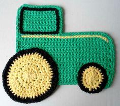 Tractor dishcloth  ~ free pattern