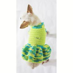 Chien mignon robe harnais main Crochet vêtements pour par myknitt