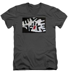 Patrick Francis Charcoal V-Neck T-Shirt featuring the painting White Tiger 2014 by Patrick Francis V Neck T Shirt, Charcoal, Mens Tops, Shirts, Design, Painting, Painting Art, Paintings