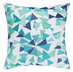 Confetti Design Blue Throw Pillow