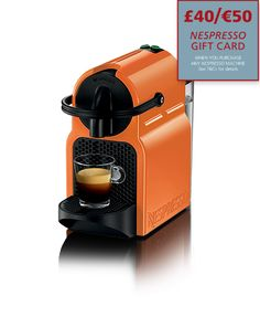 Inissia Orange | Espresso Coffee Machines | Nespresso UK #coffee #recipes #coffeerecipes #drinks #food #cooking #baking #cocktails #eat #home #yourhomemagazine #bake #coffeemachine #accessories #coffeeaccessories