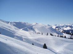 Awesome view from ski lift Kirchberg, Austria
