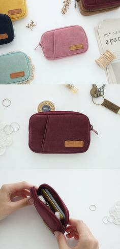 2a53a62e7837 A Low Hill Corduroy Card Pouch is a cute card pouch where you can store your