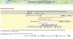 Taiwan's national patent office offers a free English-language search of Taiwan published applications, granted patents, designs, and utility models. Read the full Community Report at Intellogist: http://www.intellogist.com/wiki/Taiwan_Patent_Office_Search_(TWPAT)