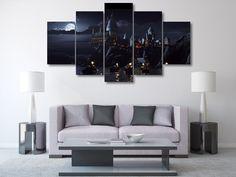 5 Panel Framed Hogwarts Castle Harry Potter Canvas Art