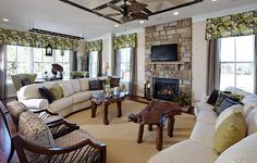 Family Room of the Chadwick @khovnanianhomes in Willowsford, nice and open.